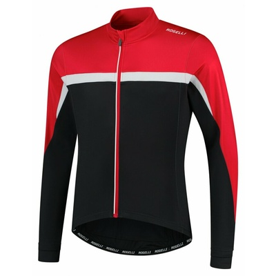 Men's warm cycling jersey Rogelli Course black-red-white ROG351005, Rogelli