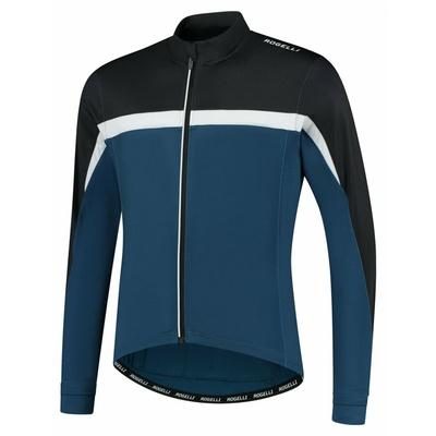 Men's warm cycling jersey Rogelli Course blue-black-white ROG351006, Rogelli