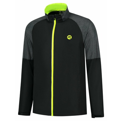 Men's running anorak Rogelli Enjoy black-gray-reflective Yellow ROG351104, Rogelli