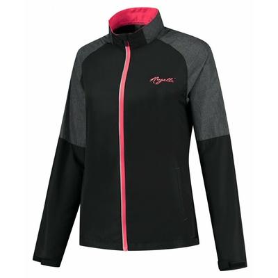 Women's running windbreaker Rogelli Enjoy black-gray-pink ROG351112, Rogelli