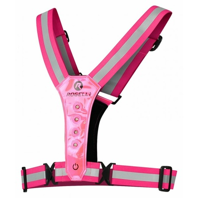 Security vest with LED diodes Rogelli reflective pink ROG351114, Rogelli