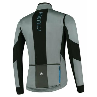 Men's softshell cycling jacket Rogelli Brave gray-black-blue ROG351023, Rogelli
