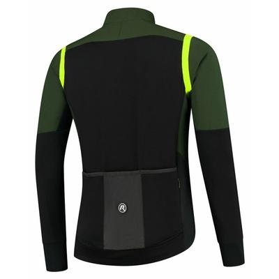 Men ultralight cycling jacket Rogelli Infinite without insulation khaki-black-reflective Yellow ROG351048, Rogelli