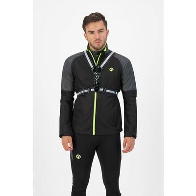 Safety vest with LEDs Rogelli reflective Black ROG351113, Rogelli