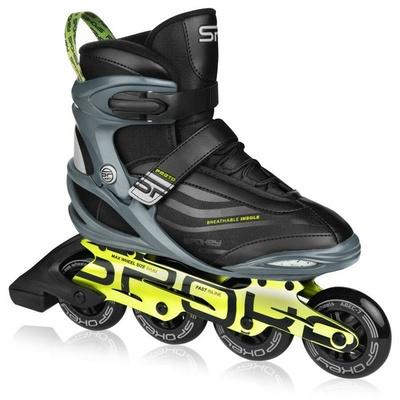 Roller skates Spokey PRETO black and green, Spokey