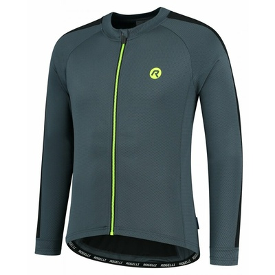 Men's cycling jersey without insulation Rogelli Explore gray-black-reflective Yellow ROG351002, Rogelli