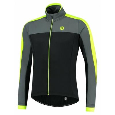 Men winter jacket Rogelli Freeze black-gray-reflective yellow ROG351020