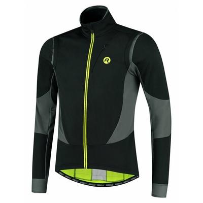 Men's softshell cycling jacket Rogelli Brave black-gray-reflective Yellow ROG351024, Rogelli