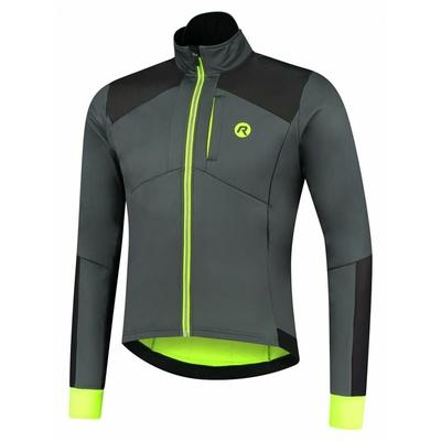 Men's strongly warm winter jacket Rogelli HI VIS with distinctive reflective panels gray-reflective Yellow ROG351031, Rogelli