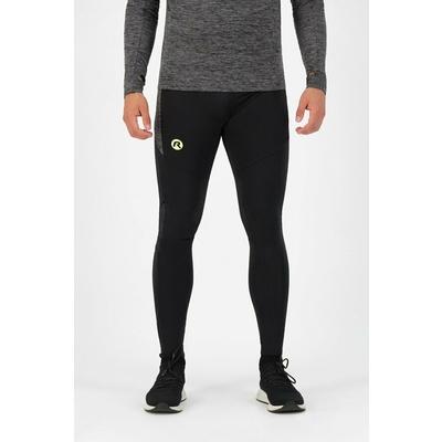 Men's running trousers Rogelli Enjoy black-reflective yellow ROG351100, Rogelli