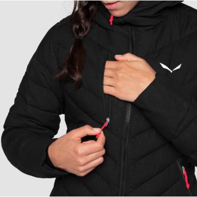 Women's winter jacket Salewa Raiser Medium Down black out 28048-0910, Salewa