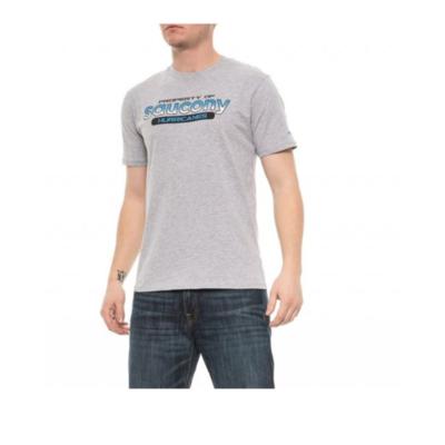 Men's T-Shirt Saucony Men Ra Graphic Tee / Heather Gray, Saucony