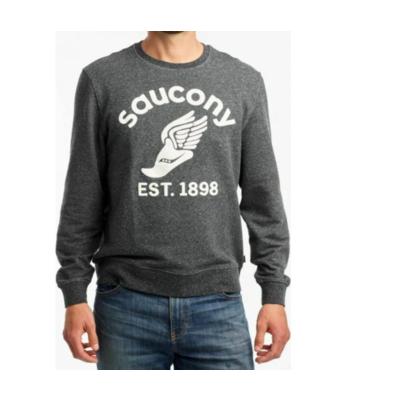 Men's sweatshirt Saucony Crew Black, Saucony