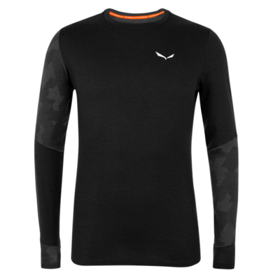 Men's thermo shirt Salewa Crystal warm merino responsive black out 28205-0910