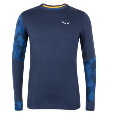 Men's thermo shirt Salewa Crystal warm merino responsive navy blazer 28205-3960