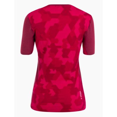 Women's thermo t-shirt Salewa Crystal warm merino responsive rhodo red 28208-6360, Salewa