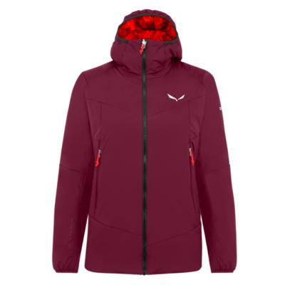 Women's winter jacket Salewa Ortles Tyrol Responsive stretch hooded rhodo red 28248-6360