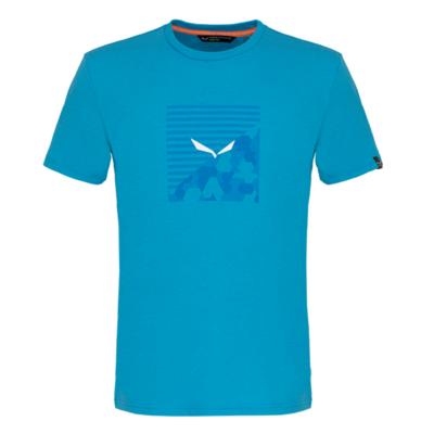 Men's T-Shirt Salewa Printed Box Dry blue danube melange 28259-8989