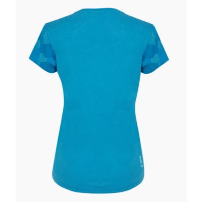 Women's T-shirt Salewa Camou Sleeve Dry blue danube melange 28260-8989
