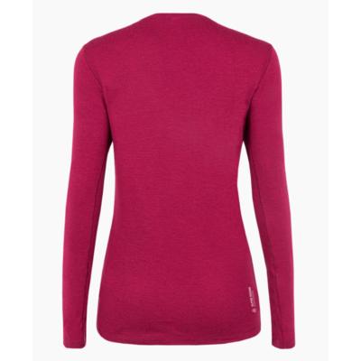Women's T-shirt Salewa Pure logo merino responsive long Sleeve Tee rhodo red 28263-6360