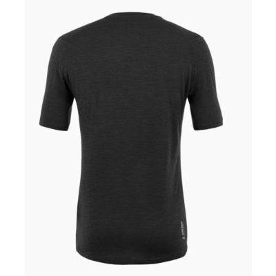 Men's T-Shirt Salewa Pure logo merino responsive black out 28264-0910