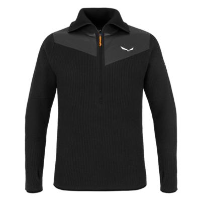 Men's sweatshirt Salewa Sella Merino black out 28271-0910