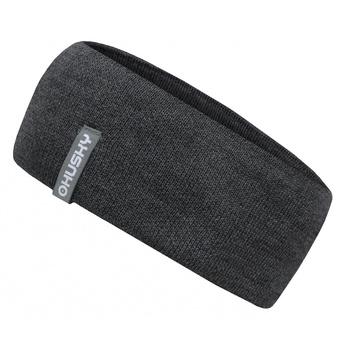 Women's merino headband Merband 2 gray highlight, Husky