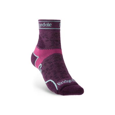 Socks Bridgedale TRAIL RUN UL T2 MS 3/4 CREW WOMEN'S Damson/195, bridgedale