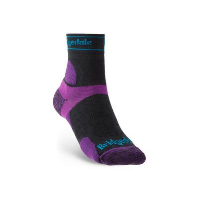 Socks Bridgedale TRAIL RUN UL T2 MS 3/4 CREW WOMEN'S Charcoal/Purple/260, bridgedale