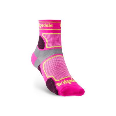 Socks Bridgedale TRAIL RUN UL T2 CS 3/4 CREW WOMEN'S Pink/305, bridgedale
