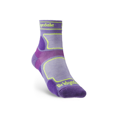 Socks Bridgedale TRAIL RUN UL T2 CS 3/4 CREW WOMEN'S Purple/371, bridgedale