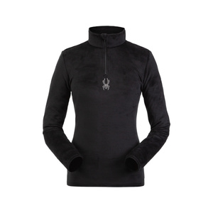 Turtleneck Spyder Women's Shimmer Bug Velour Fleece T-Neck 194091-001, Spyder