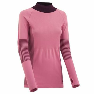 Women's sports t-shirt with long sleeves Kari Traa Takfia 622041, pink, Kari Traa
