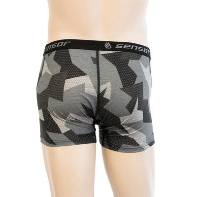Men shorts Sensor MERINO Impress black / camo 19200022, Sensor