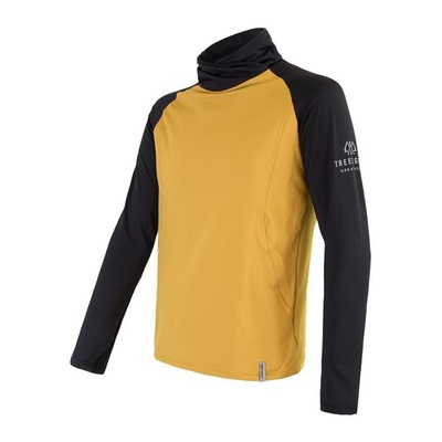 Men hoodie Sensor Coolmax Thermo mustard / black 20200049, Sensor