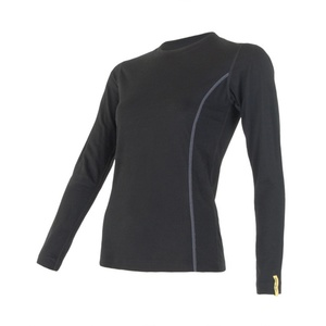 Women shirt Sensor Merino Wool Active black 11109024, Sensor