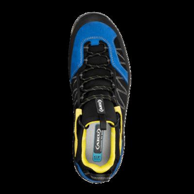Men boots AKU Tengu Low GTX black / blue / yellow, AKU