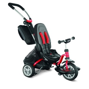 Children three-wheeler PUKY CAT S6 Ceety with guide bars red 2403, Puky