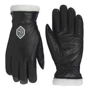 Women leather gloves Kari Traa Himle Black, Kari Traa