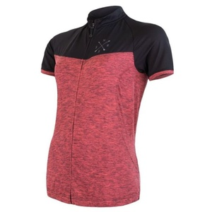 Women's jersey Sensor Bike Motion short sleeve full-zip pink / black 20100059, Sensor