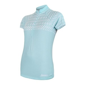 Women's cycling jersey Sensor WAVE short sleeve mint 20100060, Sensor