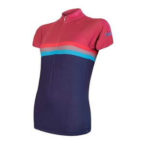 Women's cycling jersey Sensor SUMMER STRIPE blue / purple 20100062, Sensor