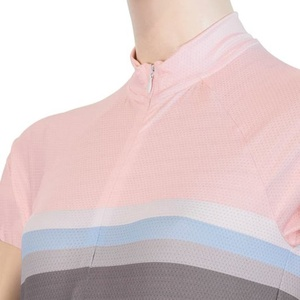 Women's cycling jersey Sensor SUMMER STRIPE gray / pink 20100063, Sensor