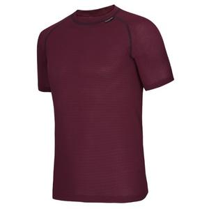 T-Shirt short sleeve Klimatex AMOS (COOLMAX) wine, Klimatex