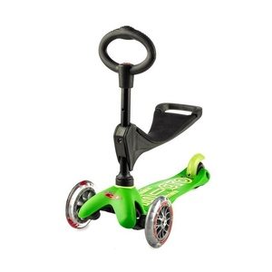 Scooter Mini Micro Deluxe 3v1 Green, Micro