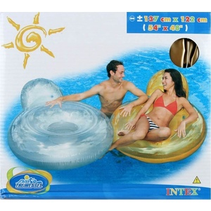 Inflatable mat Intex with backrest, Intex
