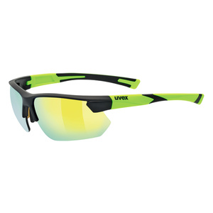 Sports glasses Uvex Sports Style 221, Black Mat Yellow (2616), Uvex