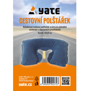 Pillow Yate inflatable behind neck blue, Yate