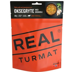 Real Turmat Stewed beef with rice a broccoli, 120 g, Real Turmat