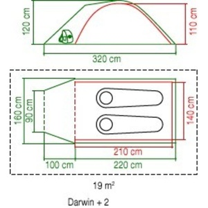 Tent Coleman Darwin 2+, Coleman